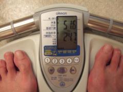 半年目の体重測定