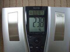 3日目朝体脂肪率