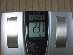 回復2日目朝体脂肪率
