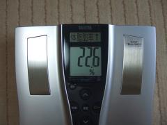 4日朝体脂肪率