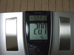4日夜体脂肪率