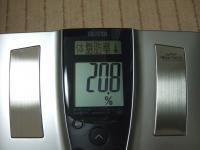 1年後の体脂肪率