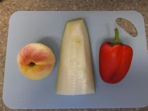 冬瓜パプリカ桃