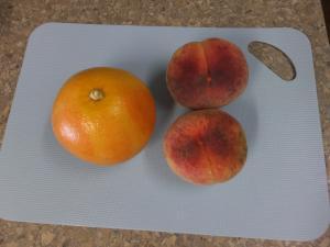 桃とグレープフルーツ