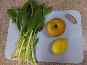 小松菜と梨