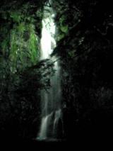 【ライトアップされた滝】