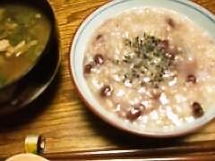 ゴマ塩小豆粥