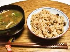 玄米五目御飯