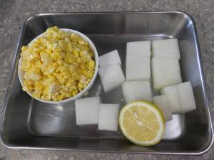 生酵素ジュース18-下準備した材料